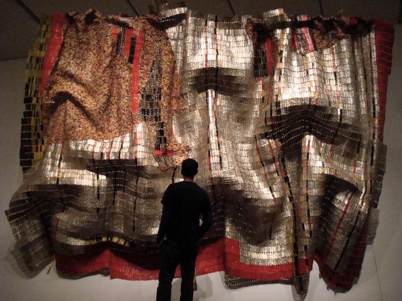El Anatsui recycled wall art 3