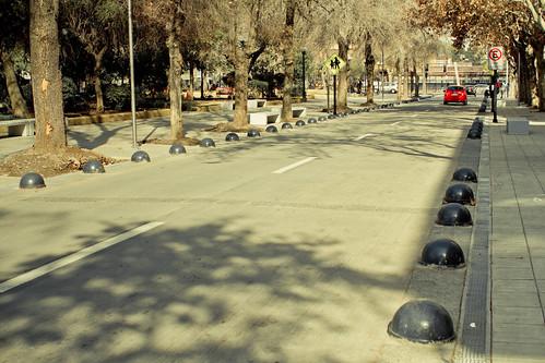 Plaza Ñuñoa, libre de autos estacionados en superficie