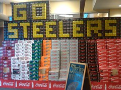 Go Steelers (bitterginger) Tags: gosteelers steelernation cokedisplay spellitin12packs
