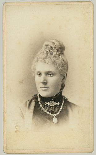 CDV woman with brooch