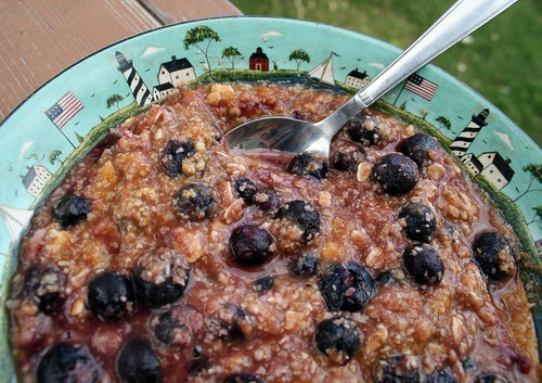 Blueberry pie oats