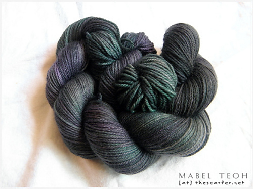 Handdyed Superwash Merino Yarn - Night Pine