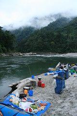 Camp 3 on the Kameng river Adventure rafting and Kayaking trip