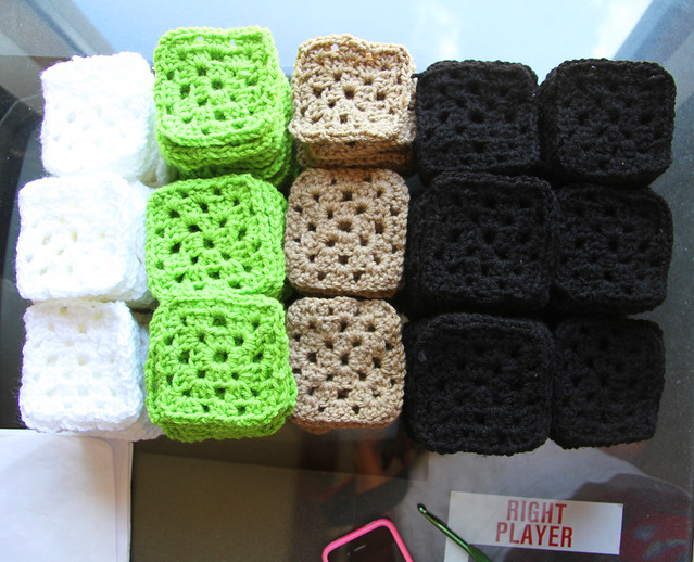 stacks of granny squares