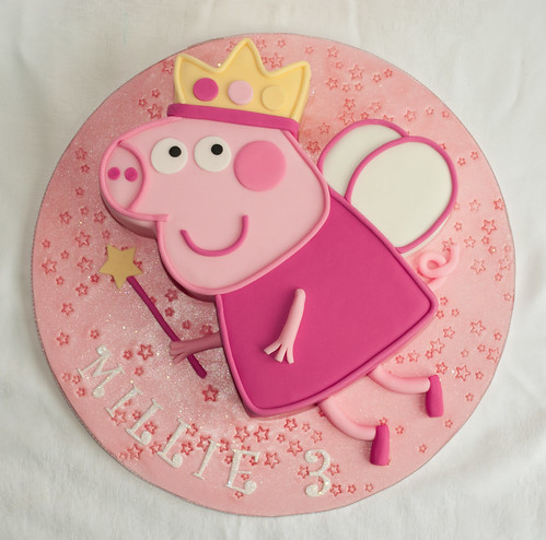 Princess Peppa Pig Birthday Cake