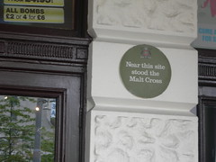 Photo of Malt Cross green plaque