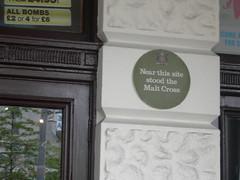 Photo of Malt Cross green plaque
