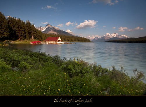 "Late afternoon at Maligne Lake-Jasper by Joalhi ""Around the World"""