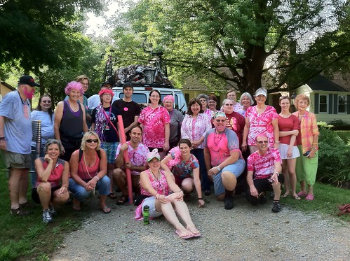 Team Flamingo Takes Off for RAGBRAI XXXIX by UNI Dr. Z