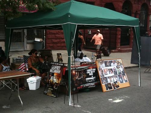 Geoffrey McClanahan's booth @ Harlem Book Fair