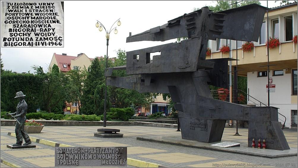 Biłgoraj Pomnik Partyzantom Bojownikom o Wolność i Polskę