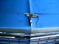 Old Chevy (Marcia Portess) Tags: blue cars chevrolet azul grunge bleu bluesilver autos fleurdelis cracks hoodornament automobiles coches chevys grills oldchevy oldchevys marciaportess