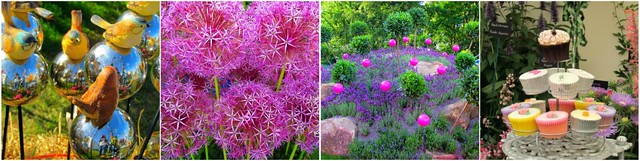 Birds Alliums Concept garden Cakes