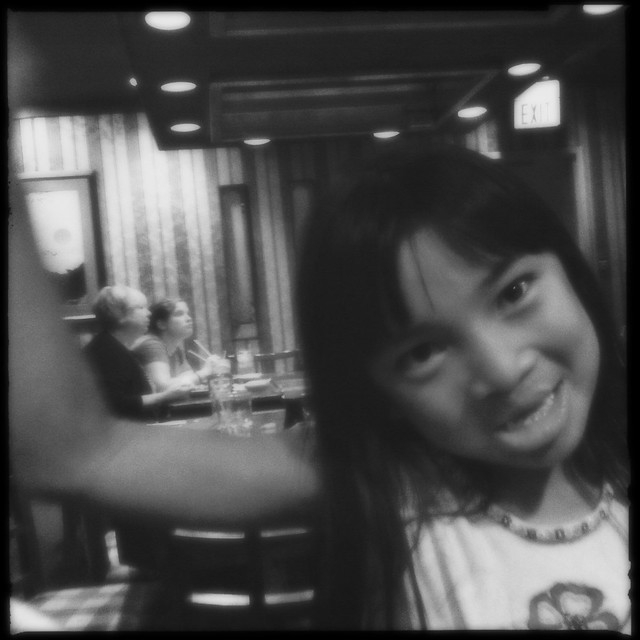 Niece at Japanese Restaurant