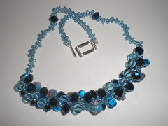 Blue mixed bead necklace (Gregelope) Tags: