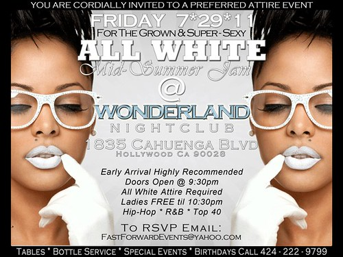 All White Party 7-29-11 @ Wonderland Night Club Hollywood, CA #LANighLife by VVKPhoto