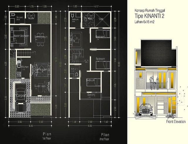 Desain Rumah Tipe KINANTI 2