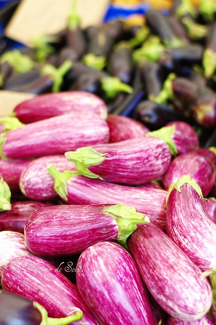Eggplants from the farmer market
