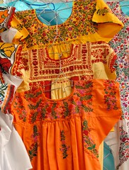 Summer Blouses Mexico (Teyacapan) Tags: flowers clothing embroidery markets mexican oaxaca textiles blouses mexicanas zapotec blusas
