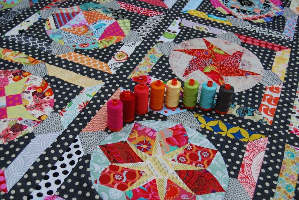 Amitie BOM the circle game - thinking about quilting