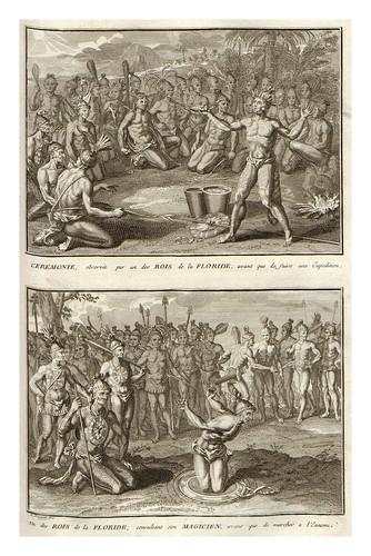 020- Ceremonias religiosas en la Florida-America-Ceremonias et coutumes religieuses de tous les peuples du monde 1741- Bernard Picart-© Universitätsbibliothek Heidelberg