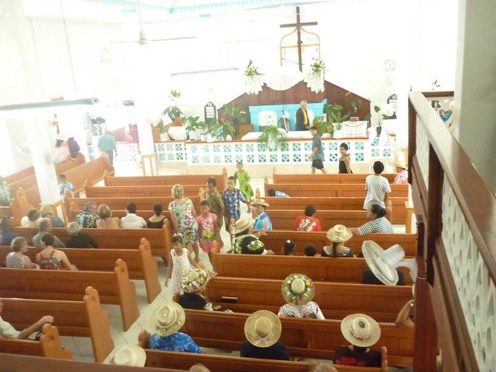 Church Session in Rarotonga