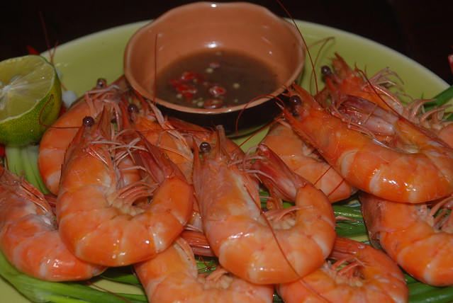 Steamed Prawns in Coconut juice