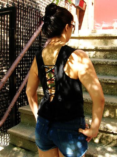 corset back tank back