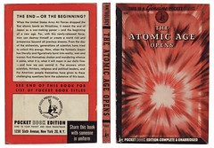 The Atomic Age Opens (Unkee E.) Tags: world 2 3 illustration vintage typography graphicdesign war unitedstates russia coverart iii explosion apocalypse radiation nuclear books retro hiroshima communism ii radioactive vs bookcover capitalism bomb russian atomic bookcovers coldwar sovietunion bookjacket warhead vintagebookcovers bookcoverillustration