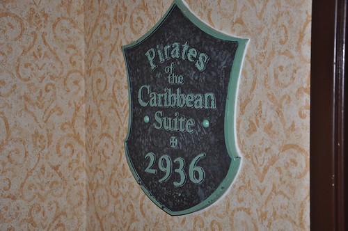 Pirates of the Caribbean suite at the Disneyland Hotel