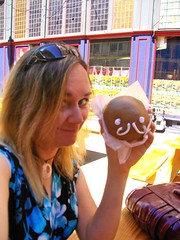 Me and my maple deliciousness at Voodoo Doughnut