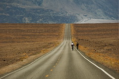 Hard Biking on Death Valley (Tati@) Tags: california road travel hot biking deathvalley badwater mygearandme mygearandmepremium mygearandmebronze mygearandmesilver mygearandmegold mygearandmeplatinum gearandmebronze