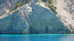 Scogli e mare smeraldino - Rocks and emerald sea (Ola55) Tags: sea beach rock sand mare greece grecia roccia spiaggia italians sabbia lefkada the4elements aplusphoto worldtrekker yourcountry ola55