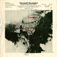 Plymouth & Stonehouse Gas Light Co. (Plymouth History) Tags: cornwall map aircraft nazi plymouth aerial devon photograph german target bomb blitz bombing reich devonport secondworldwar stonehouse luftwaffe plymstock saltash torpoint