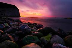 [フリー画像] 自然・風景, 海岸, 海, 夕日・夕焼け・日没, 201108061900