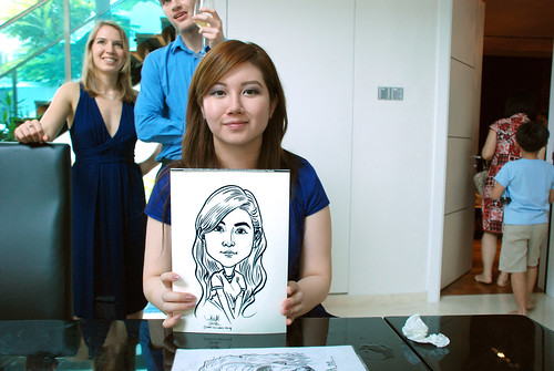 caricature live sketching for wedding solemnisation - 11