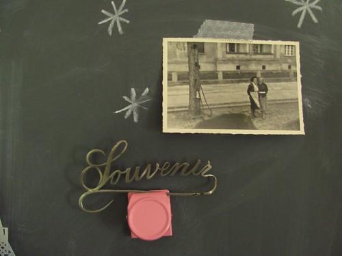 on the chalkboard