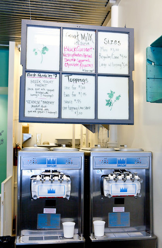 Menu and the soft serve machines