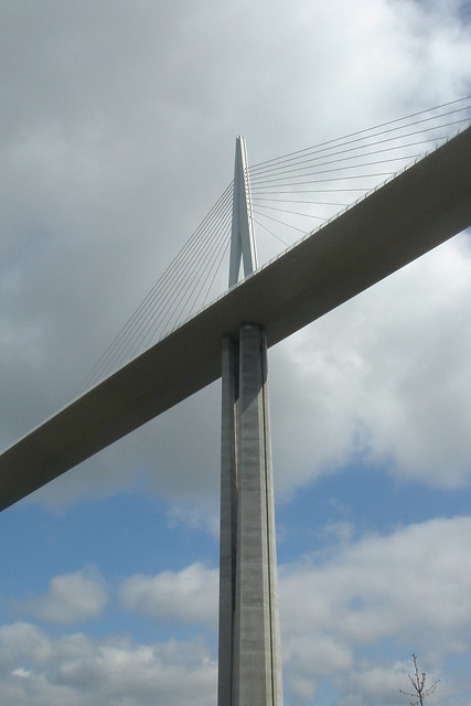One of The Seven Pillars of The Millau Viaduct