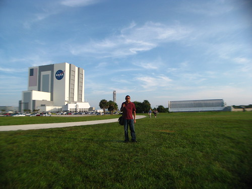 Vehicle Assembly Building and External Tank Barge -- and Me