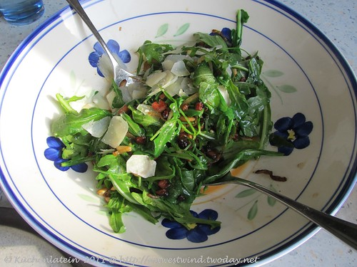 Lauwarmer Rucola-Salat mit Speck