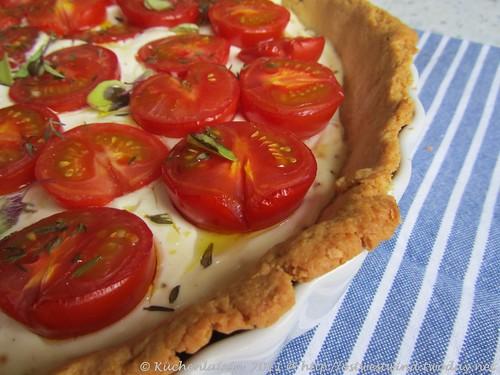 Tomatentarte mit Ziegenfrischkäse