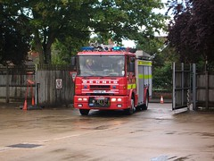 P150 GFL (Drill) (markkirk85) Tags: rescue water station fire day open engine sabre and service dennis cambridgeshire tender appliance drill brigade 2011 p150 gfl a14 dogsthorpe p150gfl