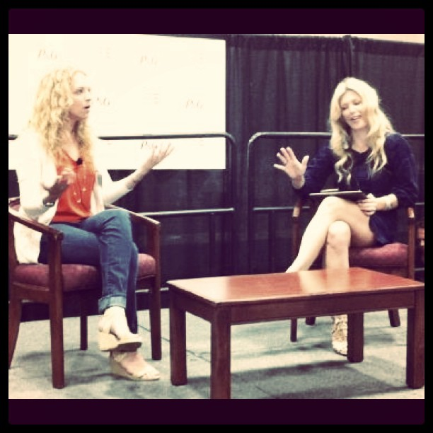 Interviewing Carley @digitwirl this morning @BlogHer #BlogHer11 for Life Well Lived.