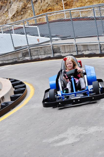 riding a go kart