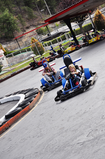 riding go karts