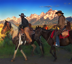 Triangle-X Ranch Wrangler Roundup (wrtrekker (Jerry T Patterson)) Tags: ranch park camping camp horses horse mountain mountains cowboys outdoors triangle cowboy hiking parks hike jackson dude patterson wyoming teton tetons jacksonhole equine ynp roundup wrangler tnp trianglex