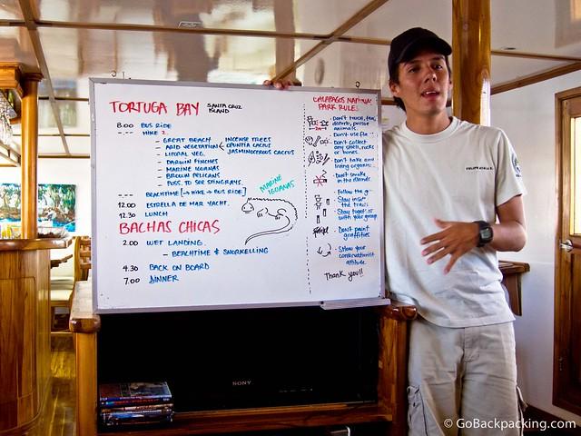 Day 2 briefing for Santa Cruz Island