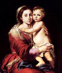 Bartolomé Murillo (+1682), La Virgen del Rosario