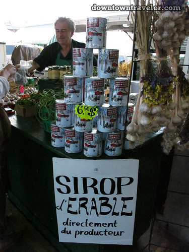 Sirop d Erable at Jean Talon market in Montreal